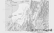 Silver Style 3D Map of Tumbaya
