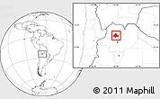 Blank Location Map of Tumbaya