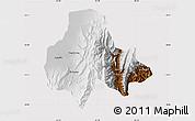 Physical Map of Tumbaya, cropped outside