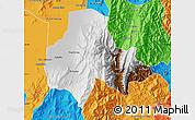 Physical Map of Tumbaya, political outside