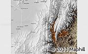 Physical Map of Tumbaya, semi-desaturated