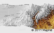 Physical Panoramic Map of Tumbaya