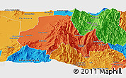 Political Panoramic Map of Tumbaya