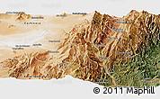 Satellite Panoramic Map of Tumbaya