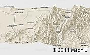 Shaded Relief Panoramic Map of Tumbaya