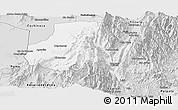 Silver Style Panoramic Map of Tumbaya