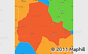 Political Simple Map of Tumbaya