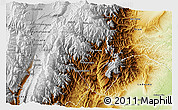 Physical 3D Map of Valle Grande