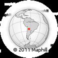 Outline Map of Valle Grande