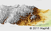 Physical Panoramic Map of Valle Grande
