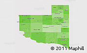 Political Shades 3D Map of La Pampa, cropped outside