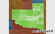 Political Shades 3D Map of La Pampa, darken
