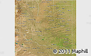 Satellite 3D Map of La Pampa