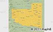 Savanna Style 3D Map of La Pampa