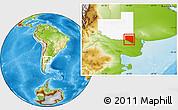 Physical Location Map of Caleu Caleu, highlighted parent region