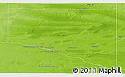 Physical Panoramic Map of Caleu Caleu