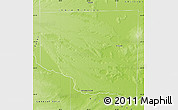 Physical Map of Cura Co