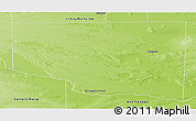 Physical Panoramic Map of Cura Co