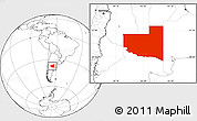 Blank Location Map of La Pampa