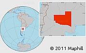 Gray Location Map of La Pampa