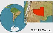 Satellite Location Map of La Pampa