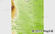 Physical Map of La Pampa