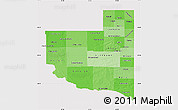 Political Shades Map of La Pampa, cropped outside