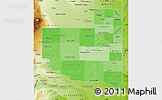 Political Shades Map of La Pampa, physical outside