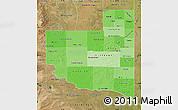 Political Shades Map of La Pampa, satellite outside