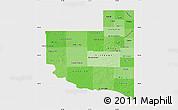 Political Shades Map of La Pampa, single color outside