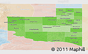 Political Shades Panoramic Map of La Pampa, lighten