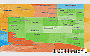 Political Shades Panoramic Map of La Pampa