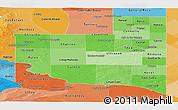 Political Shades Panoramic Map of La Pampa