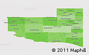 Political Shades Panoramic Map of La Pampa, single color outside