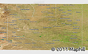 Satellite Panoramic Map of La Pampa