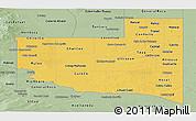 Savanna Style Panoramic Map of La Pampa