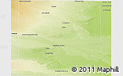 Physical Panoramic Map of Pulen