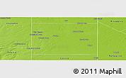 Physical Panoramic Map of Quemu Quemu