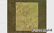 Satellite 3D Map of Rancul, darken
