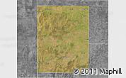 Satellite 3D Map of Rancul, desaturated