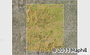Satellite 3D Map of Rancul, semi-desaturated