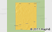 Savanna Style 3D Map of Rancul, single color outside
