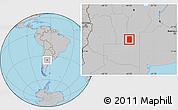 Gray Location Map of Rancul