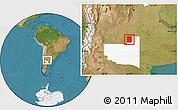 Satellite Location Map of Rancul, highlighted parent region