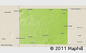 Physical Panoramic Map of Rancul, shaded relief outside