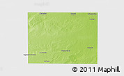 Physical Panoramic Map of Rancul, single color outside