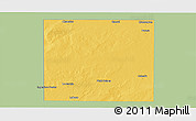 Savanna Style Panoramic Map of Rancul, single color outside