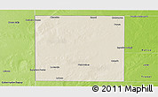 Shaded Relief Panoramic Map of Rancul, physical outside