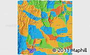 Political 3D Map of La Rioja