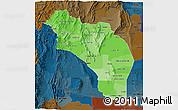 Political Shades 3D Map of La Rioja, darken